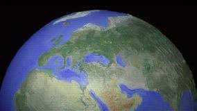 Zentrierte nahtlose Schleife der Spitze der digitalisierten Kugel stock video footage