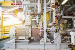Zentrifugales pumpenartiges Fahren durch Elektromotor, zum des flüssigen Kondensats zu übertragen Lizenzfreie Stockfotos