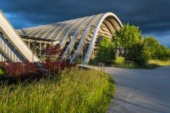Zentrum Paul Klee muzeum w Bern przy zmierzchem, Szwajcaria fotografia stock
