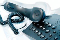 Zenuwachtig telefoongesprek Stock Afbeelding
