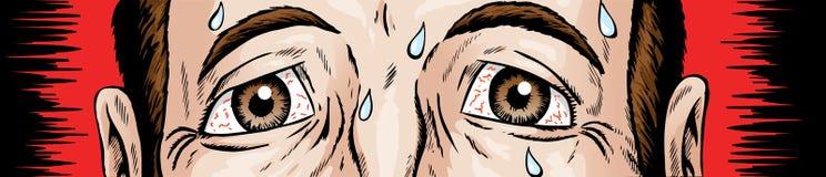 Zenuwachtige ogen Royalty-vrije Stock Afbeeldingen