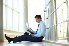 Zenuwachtige zakenman Stock Fotografie