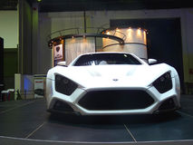 Zenvo ST-1. Zenvo ST1 on display during Dubai Motor Show 2009 at Dubai Int'l Convention and Exhibition Centre December 19, 2009 in Dubai, United Arab Emirates Royalty Free Stock Image