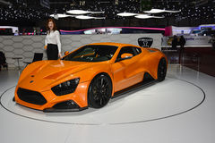 Zenvo ST1 supercar at the Geneva Motor Show Stock Photography