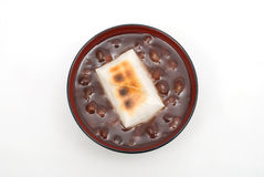 Zenzai. Japanese sweet red-bean soup(whole beans in) with Mochi(Rice cakes) named Zenzai Royalty Free Stock Images