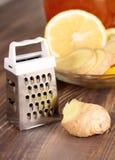 Zenzero, limone e miele Immagine Stock
