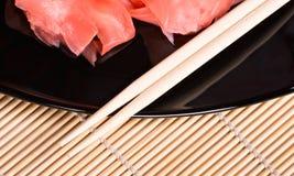 Zenzero per i sushi fotografia stock