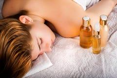 Zenzustand nach Massage Lizenzfreie Stockbilder