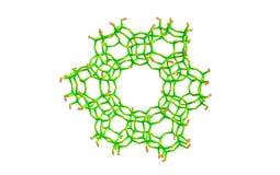 Zeolite μόριο που απομονώνεται στο λευκό Στοκ Φωτογραφία