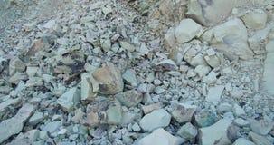 Zeolite rock phenomenon -The Stone Mushroom stock video
