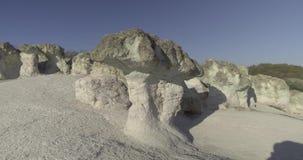 Zeolite rock phenomenon -The Stone Mushroom stock footage
