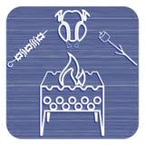 Zephyr медника, kebab и значок цыпленка Стоковое Фото
