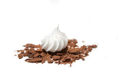 Zephyr in Chocolate. Sweet Taste of Life, marshmallows and chocolate as black and white Royalty Free Stock Image