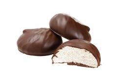 Zephyr cubierto con el chocolate Imagen de archivo