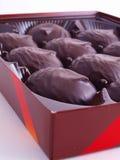 Zephyr in der Schokoladenglasur stockbild