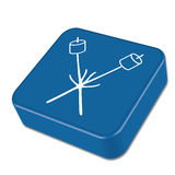 Zephyr na skewer ikonie Fotografia Stock