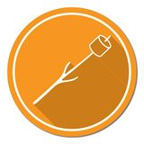 Zephyr on skewer icon. Grilled zephyr icon. Vector illustration Royalty Free Stock Photo