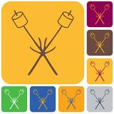 Zephyr on skewer icon. Vector illustration Royalty Free Stock Photography