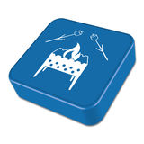 Zephyr on skewer icon. Vector illustration Royalty Free Stock Photos