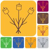 Zephyr on skewer icon. Vector illustration Stock Photography