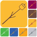Zephyr on skewer icon. Vector illustration Royalty Free Stock Image