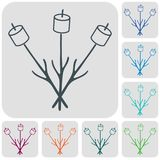 Zephyr on skewer icon. Vector illustration Stock Photos