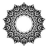 Zephyr Vector Glyph Symbol. A round black and white psychedelic vector symbol Stock Image