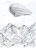 zeppelin illustration libre de droits