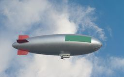 Zeppelin against clouds, free copy space Stock Photos