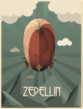 zeppelin art deco  illustration Royalty Free Stock Photography