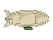 Zeppelin de bande dessinée Images libres de droits