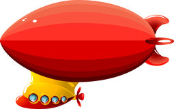 Zeppelin del fumetto Immagine Stock Libera da Diritti