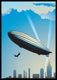 Zeppelin dirigeable Royalty Free Stock Images