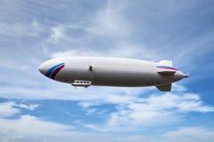 Zeppelin dirigible airship. In sky Stock Images