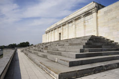 Zeppelin Field grandstand. Architectural details of Zeppelin Field grandstand, Nuremberg, Germany Royalty Free Stock Photos