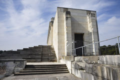 Zeppelin Field Grandstand. Architectural details of Zeppelin Field Grandstand, Nuremberg, Germany Royalty Free Stock Photo