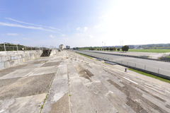 Zeppelin Field grandstand Stock Photo