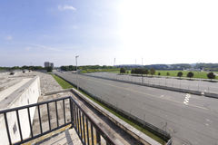 Zeppelin Field race track. Viewed from grandstand, Nuremberg, Germany Stock Images