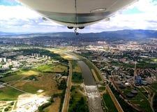 Zeppelin flying Stock Photography