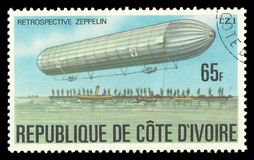Zeppelin LZ1 at takeoff Stock Photography