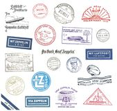 Zeppelin Postmarks from Germany Stock Photos