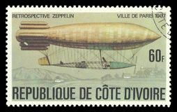 Zeppelin, Santos Dumont Ville de Paris Stock Photo