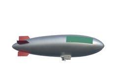 Zeppelin, vrije geïsoleerde. exemplaarruimte,   Stock Foto
