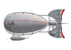 Zeppelinare på vit Royaltyfri Bild