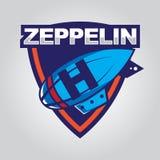 Zeppelinlogo Lizenzfreies Stockbild