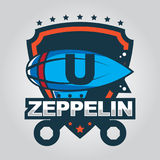 Zeppelinlogo Lizenzfreie Stockfotos