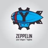 Zeppelinlogo Stockbild