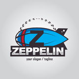 Zeppelinlogo Stockbilder
