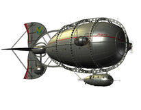 Zeppelinluftschiff Lizenzfreie Stockfotos