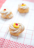 Zeppole san giuseppe typical sweet Italian naples with flour and eggs Stock Photo